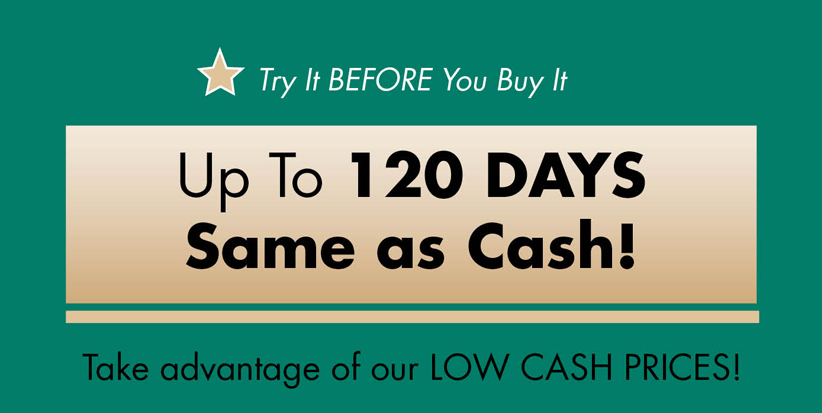 up to 120 days same as cash